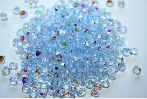 Perline Mezzi Cristalli Light Sapphire AB