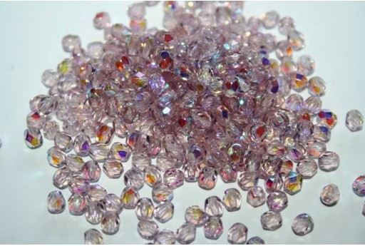 Perline Mezzi Cristalli Light Amethyst AB 4mm - 60pz