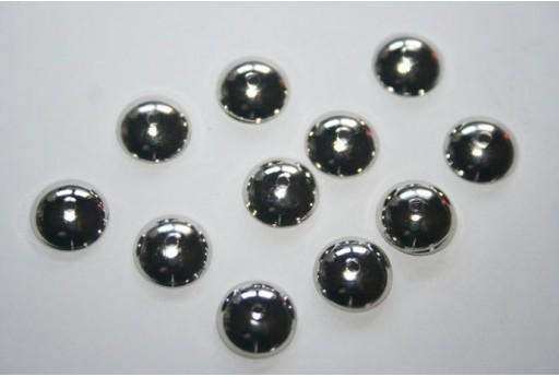 Coppette Placcate Platino 10mm - 12pz