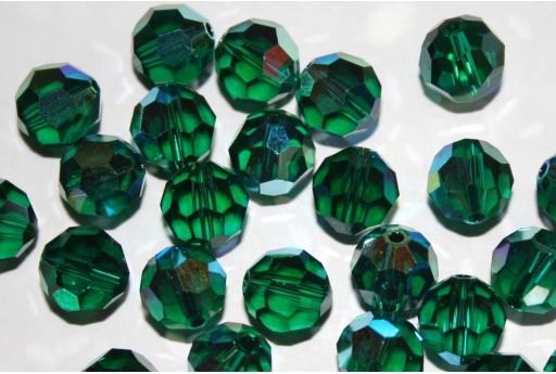 Round Swarovski Emerald AB 10mm - 2pz