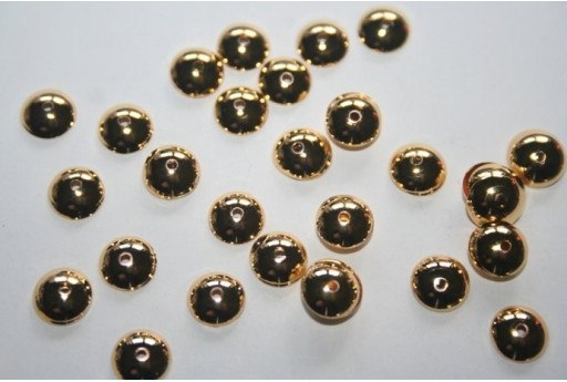 Gold Plate Bead Caps 6mm - 24pcs