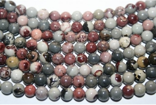 Jasper Bean Beads Sphere 6mm - 64pz