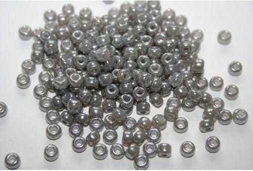 Perline Miyuki Round Rocailles Silver Gray Ceylon 6/0 - 10gr
