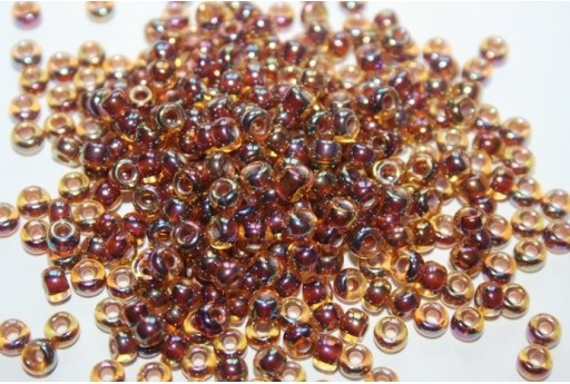 Miyuki Seed Beads Root Beer Lined Light Topaz AB 6/0 - 10gr