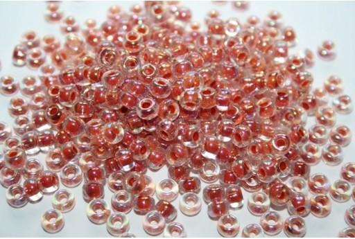 Perline Miyuki Round Rocailles Dark Peach Lined Crystal AB 6/0 - 10gr