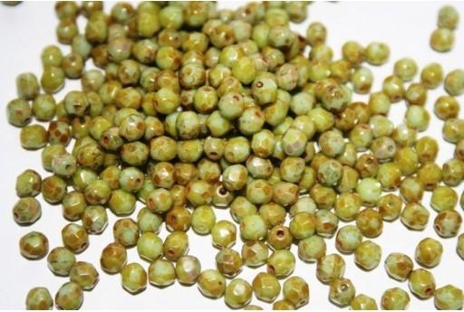 Perline Mezzi Cristalli Opaque Pale Turquoise