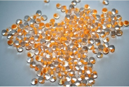 Perline Miyuki Drops Apricot Lined Crystal 3,4mm - 10gr