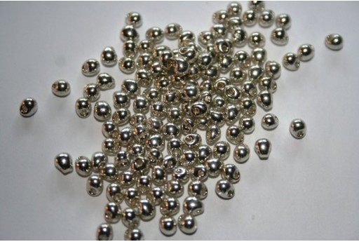 Perline Miyuki Drops Galvanized Silver 3,4mm - 10gr
