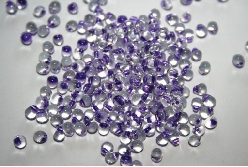 Perline Miyuki Drops Purple Lined Crystal 3,4mm - 10gr