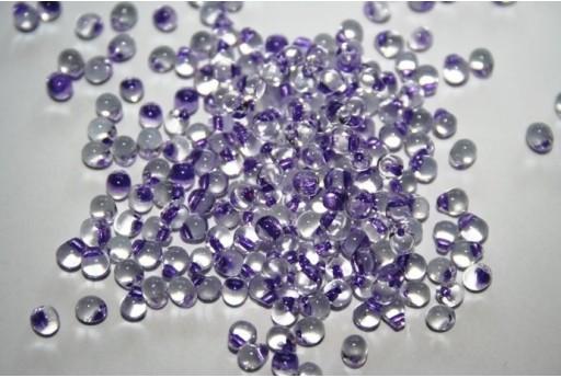 Miyuki Drops Beads Purple Lined Crystal 3,4mm - 10gr