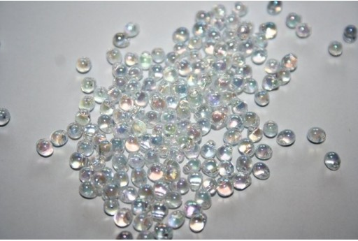Perline Miyuki Drops Transparent Crystal AB 3,4mm - 10gr
