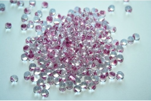 Miyuki Drops Beads Antique Rose Lined Crystal Matte 3,4mm - 10gr