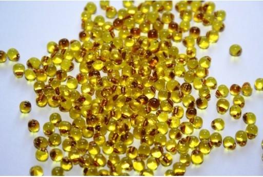 Perline Miyuki Drops Gold Lined Yellow 3,4mm - 10gr