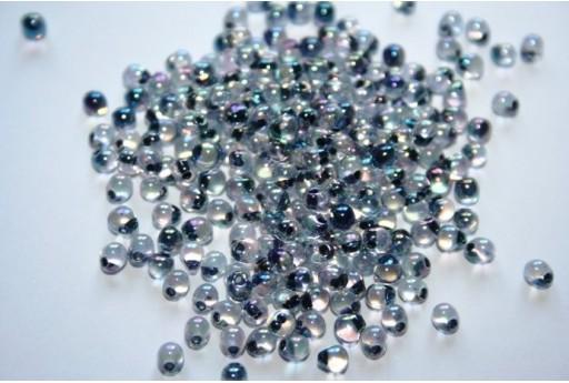Miyuki Drops Beads Noir Lined Crystal AB 3,4mm - 10gr
