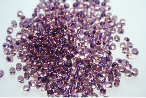 Perline Miyuki Drops Amethyst Lined Smokey Amy 3,4mm - 10gr