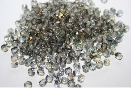 Fire Polished Beads Luster-Smoky Crystal 4mm - 60pz