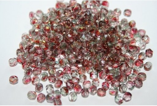 Fire Polished Beads Luster-Pink Crystal 4mm - 60pz