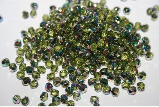 Perline Mezzi Cristalli Vitral Olivine