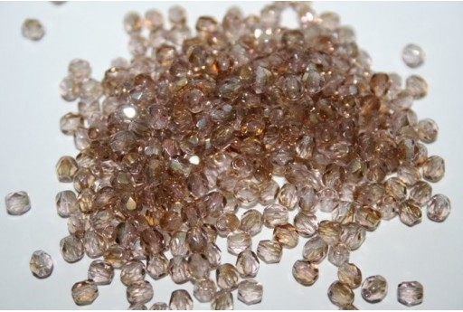 Fire Polished Beads Twilight-Light Amethyst 4mm - 60pz