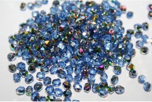Fire Polished Beads Vitral-Sapphire 4mm - 60pz