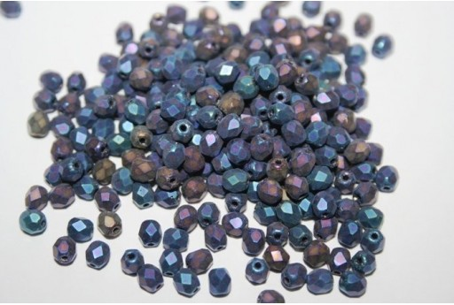 Perline Mezzi Cristalli Matte Iris Blue
