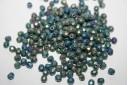 Perline Mezzi Cristalli Matte Iris Green 4mm - 60pz