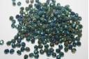 Perline Mezzi Cristalli Iris Green 4mm - 60pz