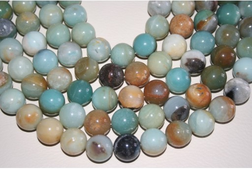 Amazonite Beads Multicolor Sphere 16mm - 25pz