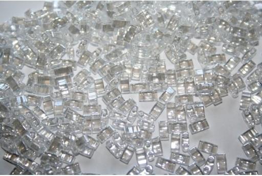 Miyuki Half Tila Beads 1/2 Cut Crystal Luster 2,5x5mm - 5gr
