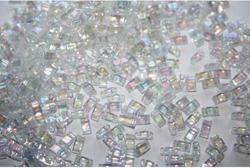 Perline Miyuki Half Tila 1/2 Cut Crystal AB 2,5x5mm - 5gr