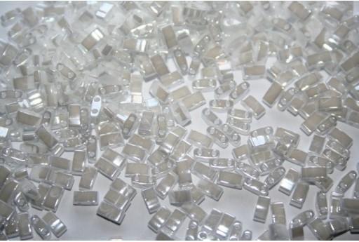 Perline Miyuki Half Tila 1/2 Cut White Pearl 2,5x5mm - 5gr