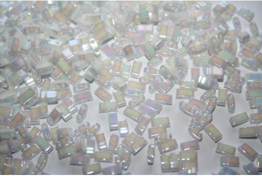 Perline Miyuki Half Tila 1/2 Cut Pearl White AB 2,5x5mm - 5gr