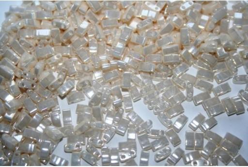 Miyuki Half Tila Beads 1/2 Cut Ivory Pearl Ceylon 2,5x5mm - 5gr