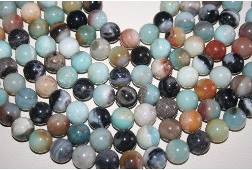 Amazonite Beads Sphere Multicolor 14mm - 28pz