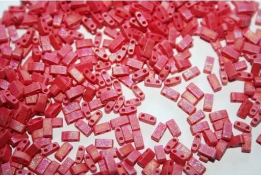 Perline Miyuki Half Tila 1/2 Cut Matte Opaque Red AB 2,5x5mm - 5gr