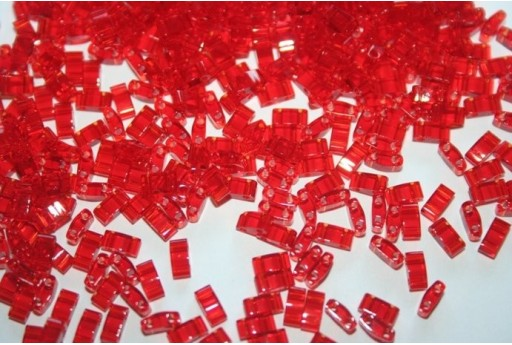 Perline Miyuki Half Tila 1/2 Cut Transparent Red 2,5x5mm - 5gr