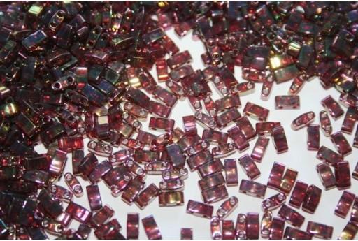 Miyuki Half Tila Beads 1/2 Cut Rose Gold Luster 2,5x5mm - 5gr