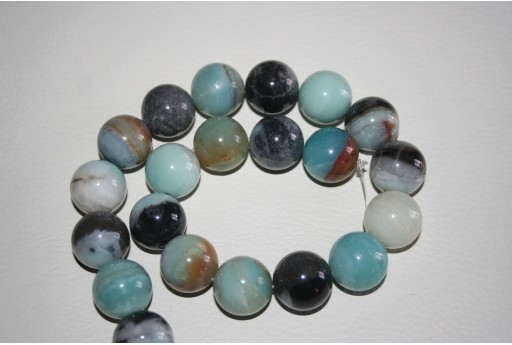 Pietre Amazonite Sfera Multicolor 18mm - 4pz