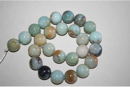 Pietre Amazonite Multicolor Sfera 16mm - 4pz