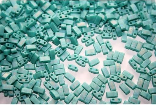 Perline Miyuki Half Tila 1/2 Cut Matte Opaque Turquoise 2,5x5mm - 5gr