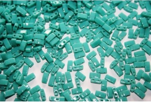 Perline Miyuki Half Tila 1/2 Cut Opaque Turquoise-Green 2,5x5mm - 5gr