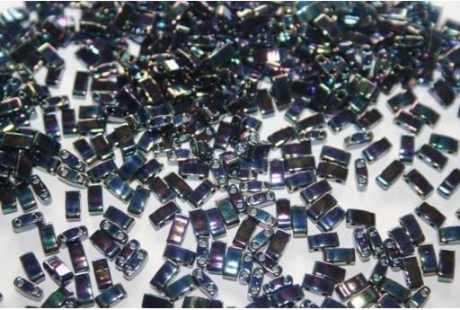 Miyuki Half Tila Beads 1/2 Cut Medium Blue Iris 2,5x5mm - 5gr