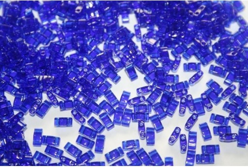 Perline Miyuki Half Tila 1/2 Cut Transparent Cobalt 2,5x5mm - 5gr