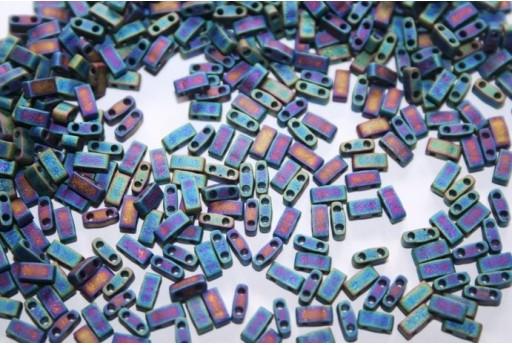 Perline Miyuki Half Tila 1/2 Cut Matte Blue AB 2,5x5mm - 5gr