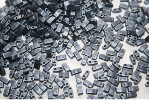 Perline Miyuki Half Tila 1/2 Cut Matte Blue Grey 2,5x5mm - 5gr