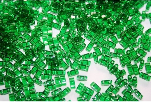 Miyuki Half Tila Beads 1/2 Cut Transparent Green 2,5x5mm - 5gr