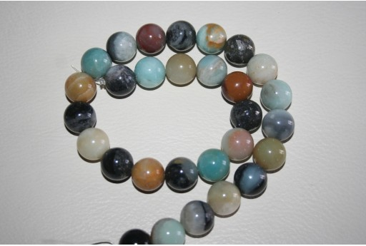 Amazonite Beads Sphere Multicolor 14mm - 4pz