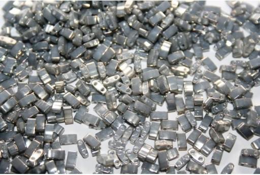 Perline Miyuki Half Tila 1/2 Cut Galvanized Grey Luster 2,5x5mm - 5gr