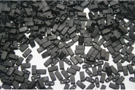 Perline Miyuki Half Tila 1/2 Cut Matte Black 2,5x5mm - 5gr