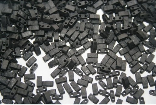 Miyuki Half Tila Beads 1/2 Cut Matte Black 2,5x5mm - 5gr